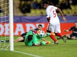 El guardameta encadenó 43 partidos de Champions encajando. AFP