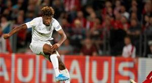 Coman marque pour le Bayern, facilement qualifié. AFP