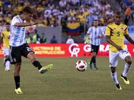 Paulo Dybala et lArgentine ont été accrochés par la Colombie de Wilmar Barrios. AFP