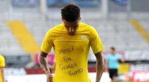 Les hommages des footballeurs à Floyd passibles de sanction. AFP