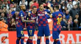 Vidal envoie un message de soutien à Suárez. AFP