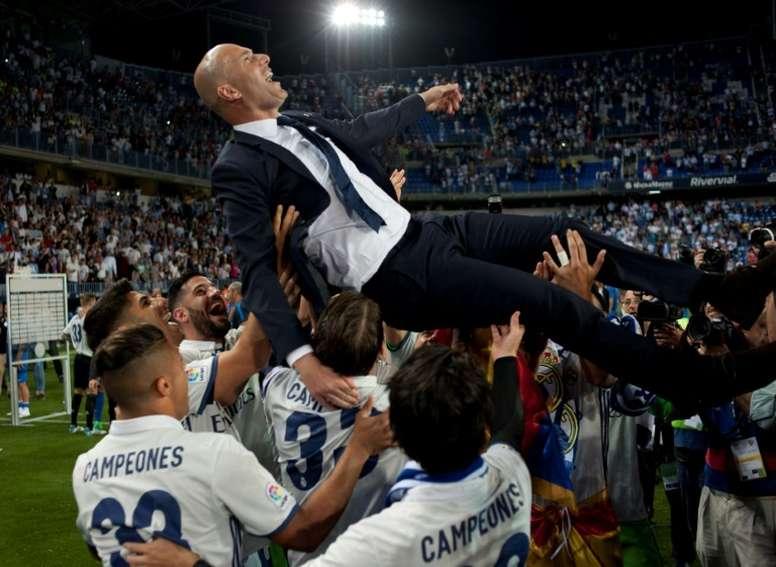 Real Madrid voltou a vencer a LaLiga, cinco anos depois. AFP