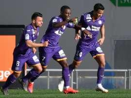 Les compos officielles du match de Ligue 1 entre Montpellier et Toulouse. AFP