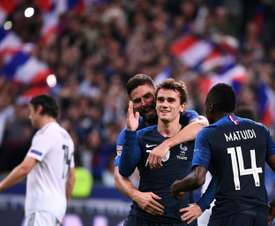 Griezmann got on the scoresheet twice in the second half. AFP