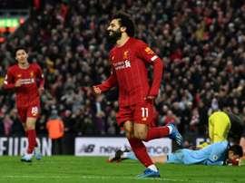 Salah deu um presente inesquecível. AFP