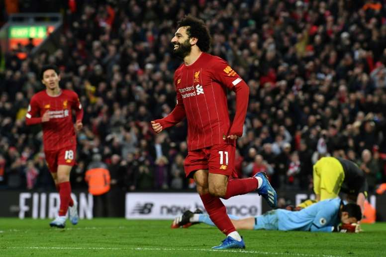 Liverpool's Mohamed Salah scored twice against Southampton