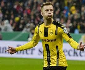 L'attaquant de Dortmund Marco Reus buteur contre le Bayern en Coupe d'Allemagne. AFP