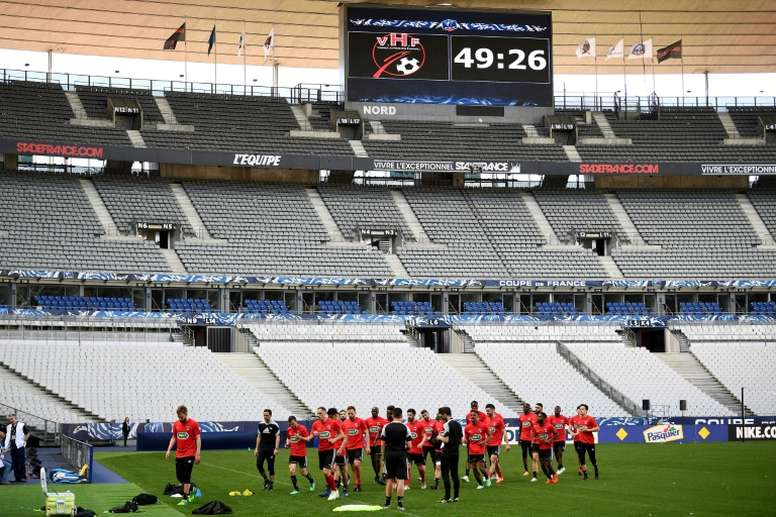 Les Herbiers will face their toughest match in the French capital. AFP