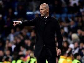 Les effets des causeries de Zidane à la mi-temps. AFP