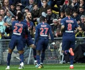 Les joueurs du PSG restent sur une défaite à Nantes. AFP