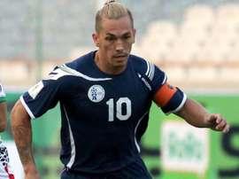 Le capitaine de Guam Jason Cunliffe, lors des éliminatoires de la Coupe d'Asie des nations. AFP