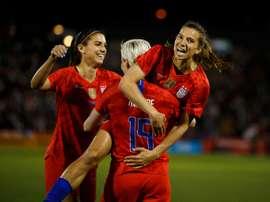 Les Américaines victorieuses face aux Australiennes (5-3) en match de préparation à la CDM. AFP