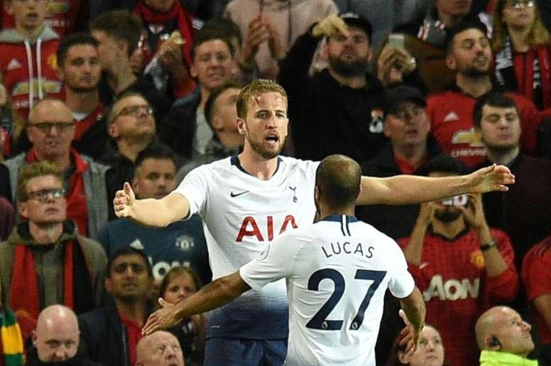 Lucas Moura fait l'éloge de Kane. AFP