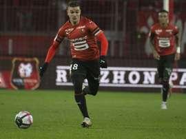Les compos officielles du match de Ligue 1 entre Rennes et Nice. AFP