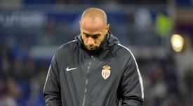 Thierry Henry, treinador do Mónaco. AFP