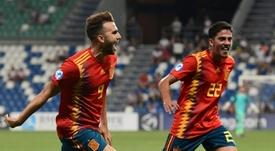 Borja Mayoral was on target as Spain brushed France aside. AFP