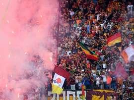 Supporters de l'Espérance de Tunis lors de la finale du championnat face à l'Etoile du Sahel. AFP