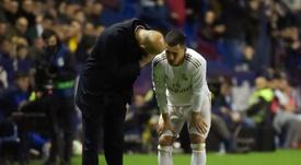Zidane, pessimiste pour la blessure de Hazard. AFP