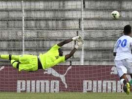 Le gardien Sylvain Gbohouo s'incline avec la Côte d'Ivoire devant le Gabon. AFP
