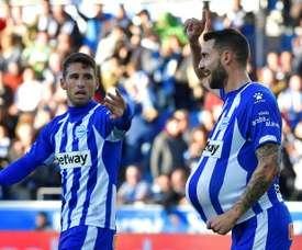 Borja Baston a marqué le dernier but d'Alavés. AFP
