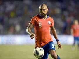 Arturo Vidal avec la sélection chilienne. AFP