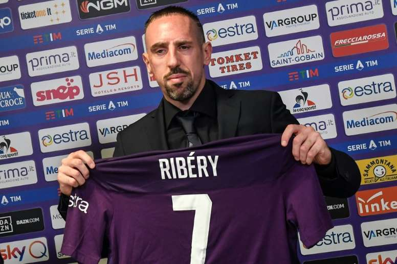 Ribéry commence sa vie en Viola. AFP