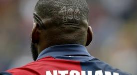 Le milieu de terrain Olivier NTcham lors d'un match avec le Genoa contre Lazio. AFP