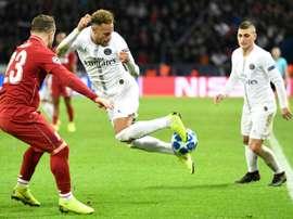 Neymar, buteur. AFP
