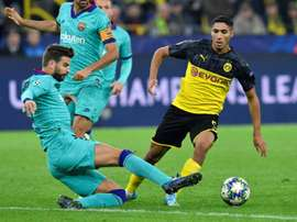 Achraf could remain at Dortmund. AFP