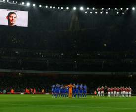 A moment's silence was held before the match in honour of the missing Argentinian. AFP