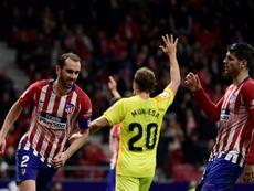 Le défenseur de l'Atlético Madrid, Diego Godin. AFP