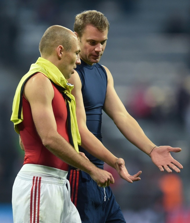 Robben y Neuer están fuera de combate. AFP