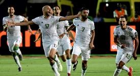 Mahrez's stunning free-kick sent Algeria through to the final. AFP