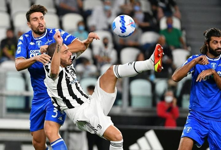 La Juventus no fue capaz de darle la vuelta al gol de Mancuso. AFP