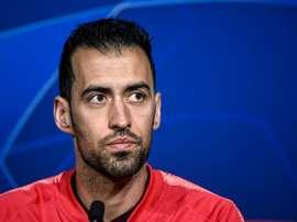 Busquets est conscient que le Barça doit faire plus. AFP
