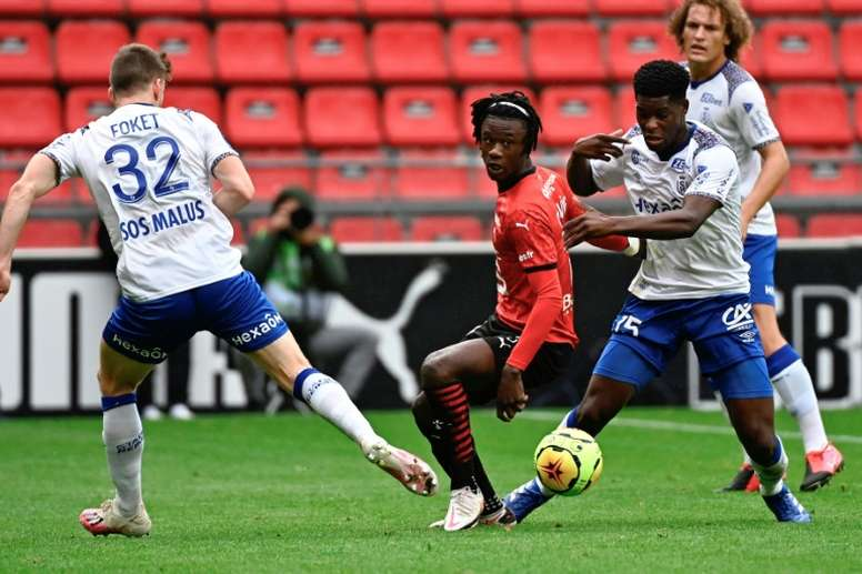 Camavinga is arguably Rennes star player. AFP