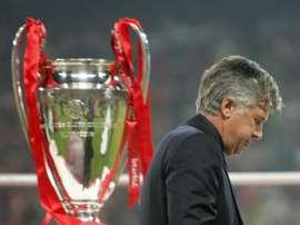Carlo Ancelotti's team were beaten on penalties by Liverpool. AFP