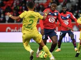 Jonathan David, sin goles tras 600 minutos oficiales. AFP