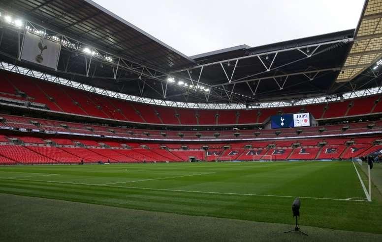En attendant l'Euro 2020, Wembley se console avec un barrage de D2. AFP