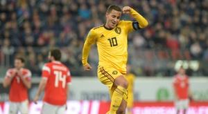 Bélgica reativa o poderoso Hazard. AFP
