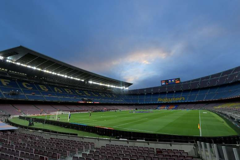 Barcelona v Napoli might not be played at the Camp Nou. AFP