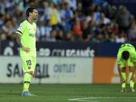 Messi n'aura pas empêché la défaite. AFP