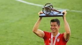 La temporada de Lewandowski, para 'The Best' según Flick. AFP