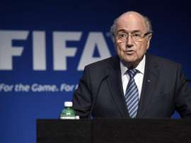 Joseph Blatter, presidente de la FIFA, anunciaba, el pasado 2 de junio en rueda de prensa, que pone a disposición su cargo. EFE/Archivo