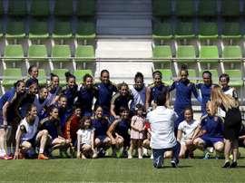 Las integrantes de la selección española femenina de fútbol. EFE/Archivo
