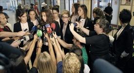 Ainhoa Tirapu fue muy activa en las reivindicaciones del fútbol femenino español. EFE