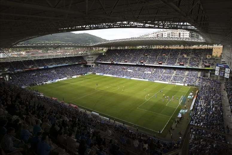 Vista general del Carlos Tartiere, donde jugará el Atlétoco de Madrid uno de sus partidos de pretemporada. EFE/Archivo