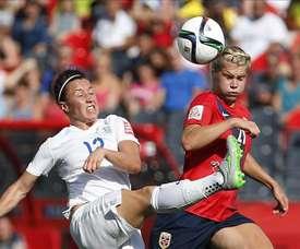 Les compos probables du match de Mondial Féminin entre la Norvège et l'Angleterre. EFE