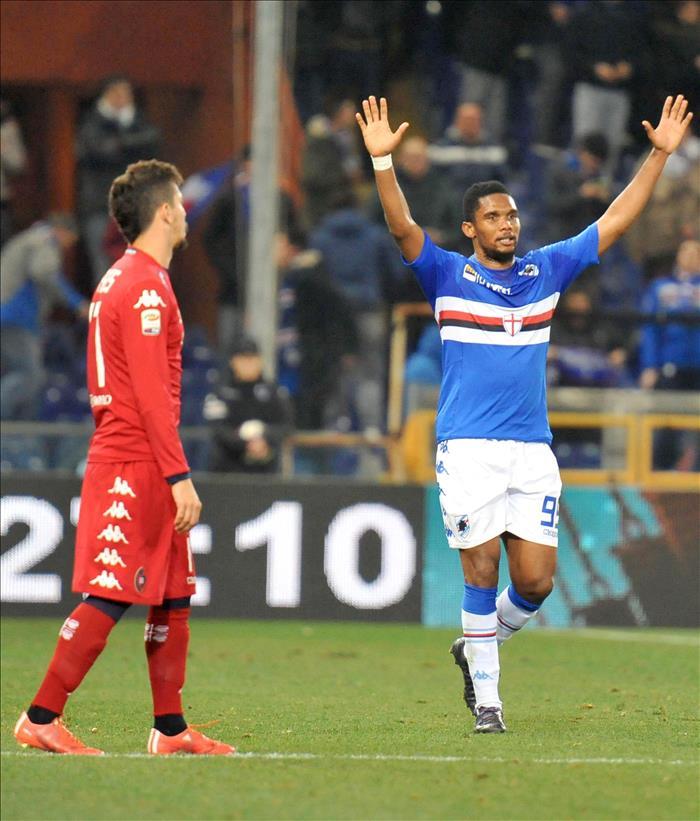 El exjugador del Sampdoria Samuel Etoo. EFE/Archivo