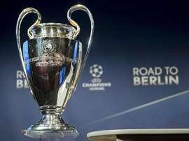 Vista del trofeo de la Liga de Campeones. EFE/Archivo